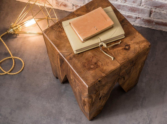 Earth Square Side Table Natural