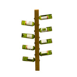 Teak 8 Bottle Hanging Wine Rack