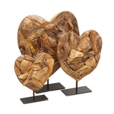 Driftwood Heart on Stand - Set of 3