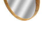 Earth Round Teak Mirror