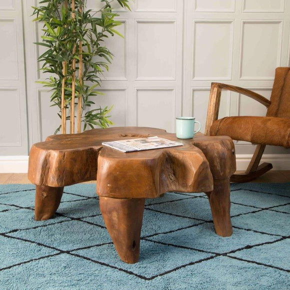 Earth Natural Teak Root Coffee Table