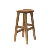 Earth Teak Root Bar Stool