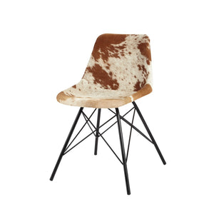 Pair of Cowhide Leather Dining Chairs - Kate Newington Interiors