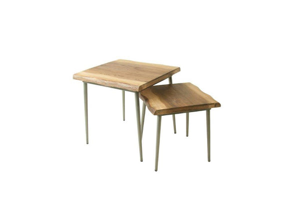 Komi Live Edge Nest of 2 Lamp Tables