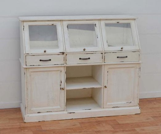 Wooden Sideboard with Glazed Display