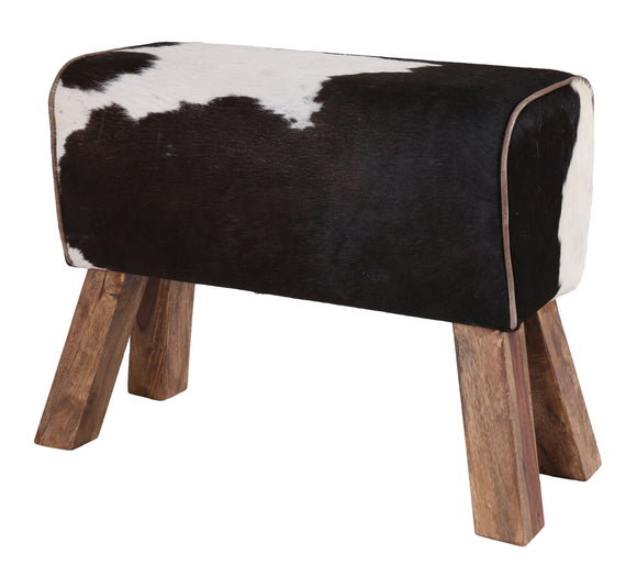 Cowhide Leather Pommel Horse Stool