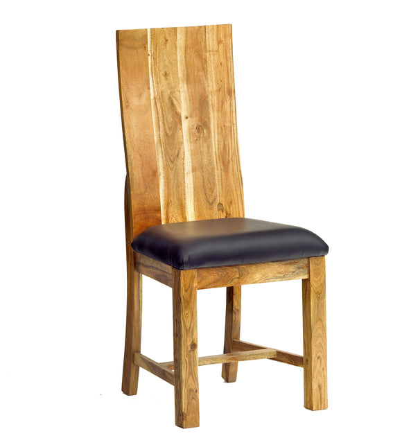 Pair of Baltic Live Edge Dining Chairs