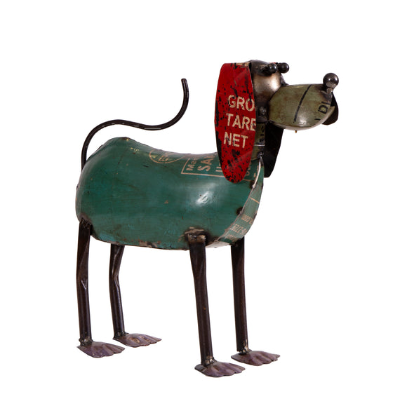 Recycled Iron Dog Standing