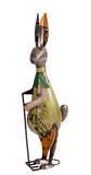 Recycled Iron Hare with Rake