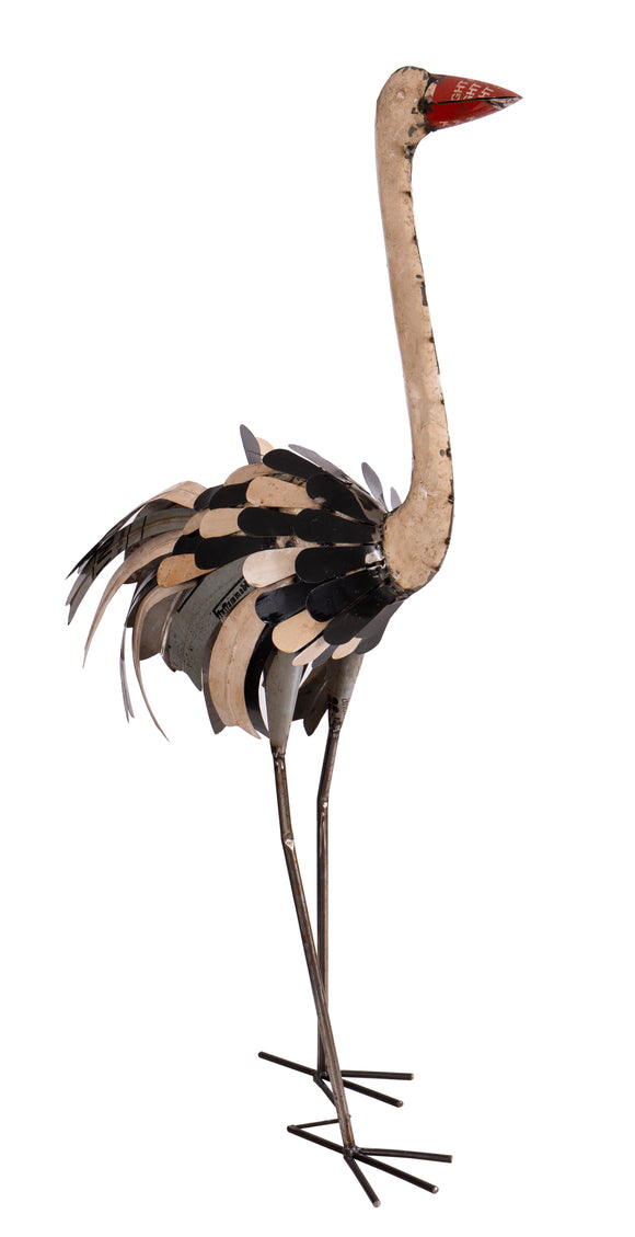 Recycled Iron Ostrich