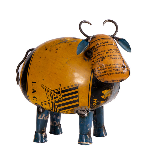 Recycled Iron Cow Round