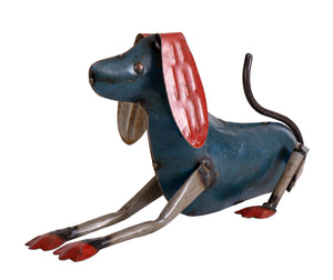 Recycled Iron Dog Resting