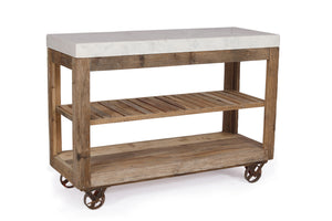 Cosgrove Marble Top Open Kitchen Island (Large)