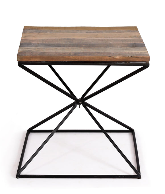 Cosgrove Side Table with Geometric Frame