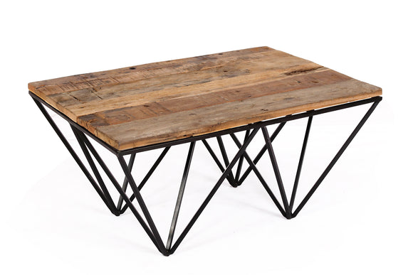 Cosgrove Coffee Table with Geometric Frame