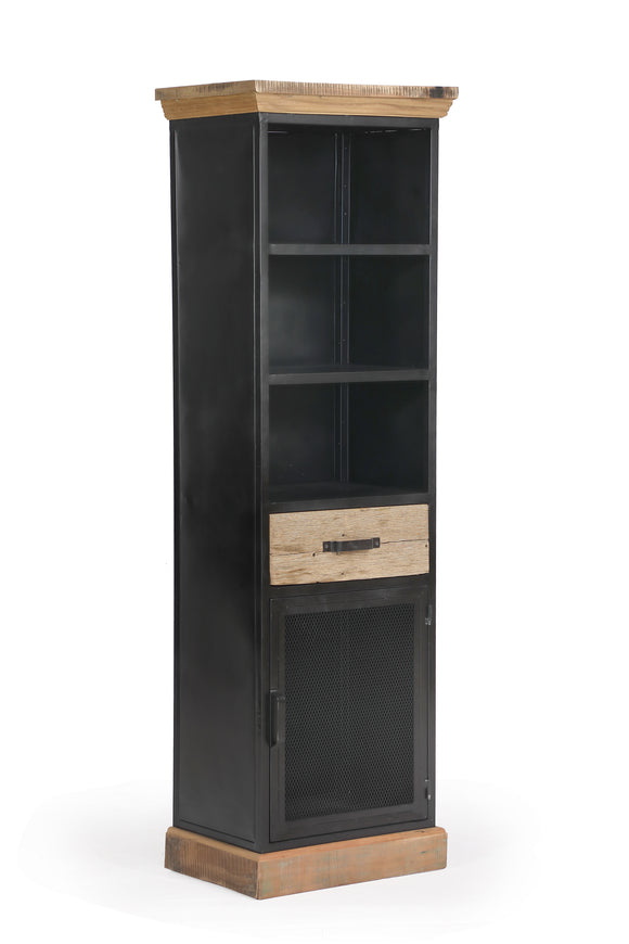 Cosgrove Tall Bookcase with Cupboard and Drawer