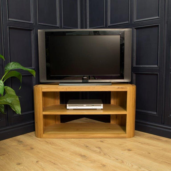 Oxford Lounge Oak Corner TV Unit