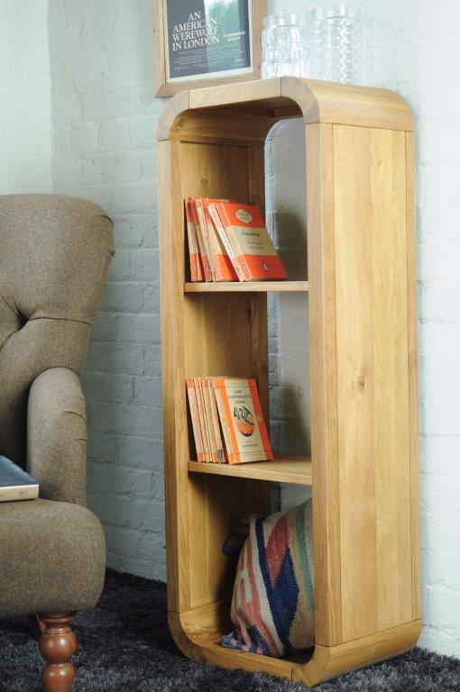 Oxford Lounge Oak Open Back Shelf Unit (Medium)