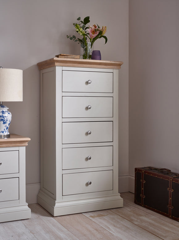 Rosa 5 Drawer Tall Chest / Tallboy