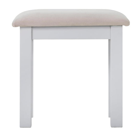 Rosa Dressing Stool with Plush Platinum Fabric Seat