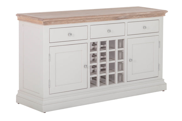 Rosa 3 Drawer 2 Door Sideboard with Wine Rack