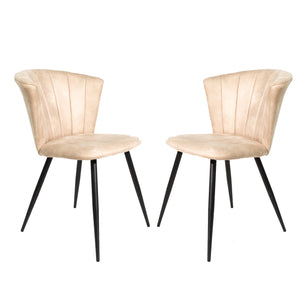 Set of 2 Selfridge Dining Chairs in Oyster Moleskin
