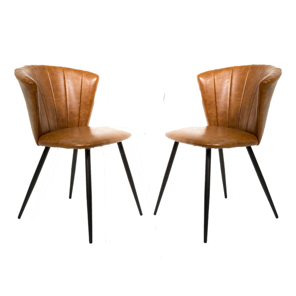 Set of 2 Selfridge Dining Chairs in Tan