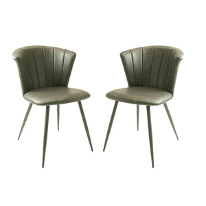 Set of 2 Selfridge Dining Chairs in Grey