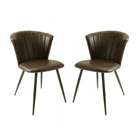 Set of 2 Selfridge Dining Chairs in Chestnut Vintage
