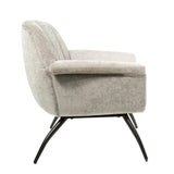 Selfridge Cocktail Chair in Grey Chenille