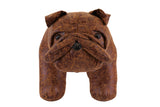 Brown Bulldog Stool