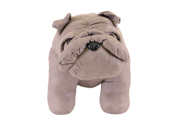 Grey Bulldog Stool