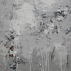 Hand Painted Calming Grey Abstract High Texture Canvas