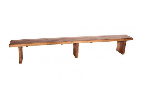 Solid Wood 305cm Bench