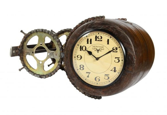 Wooden Dual Faced Side Clock