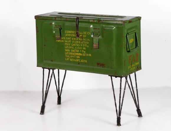 Vintage Storage Trunk on Hairpin Legs