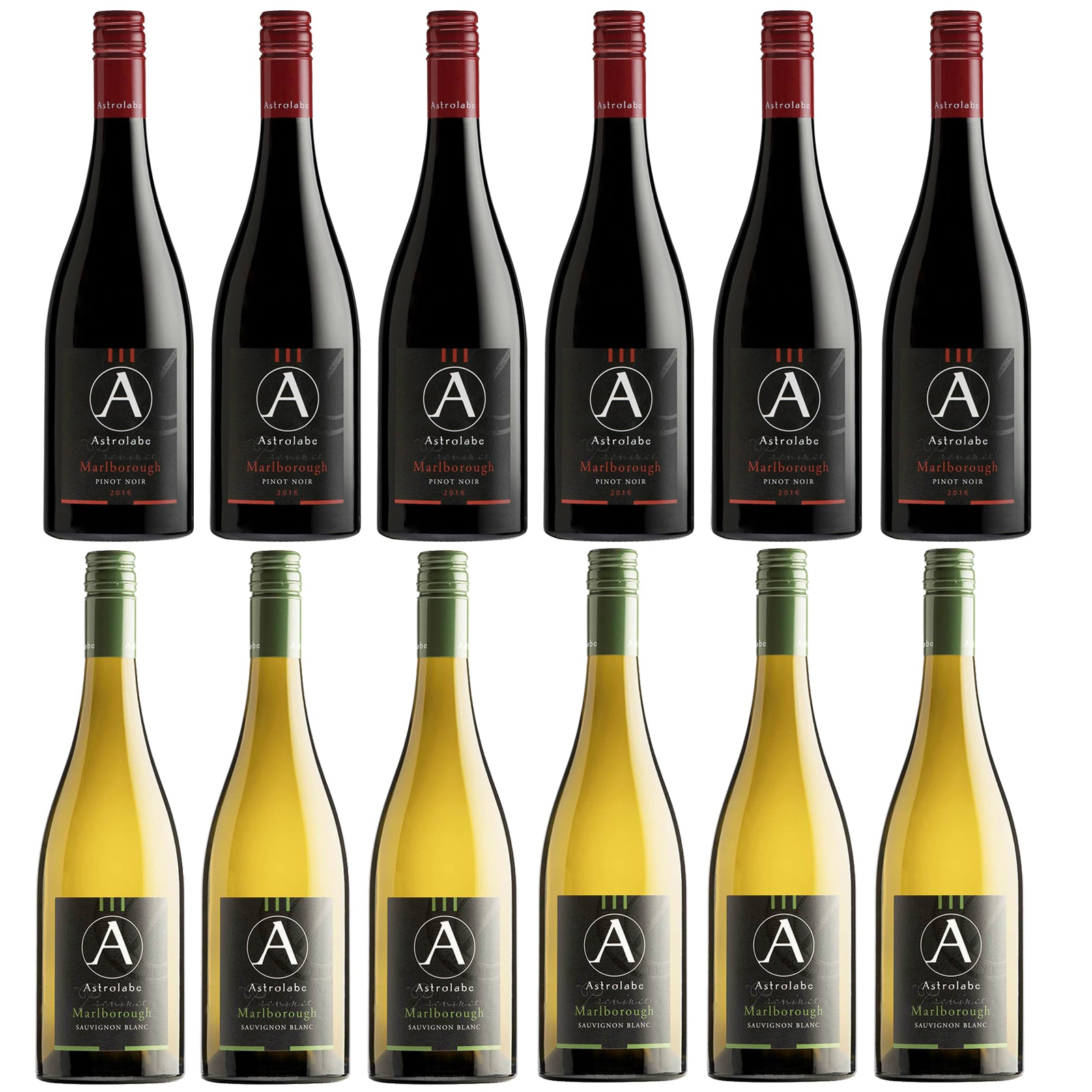 Astrolabe Marlborough Sauvignon Blanc 2018 & Astrolabe Marlborough Pinot Noir 2016 (Case of 12)