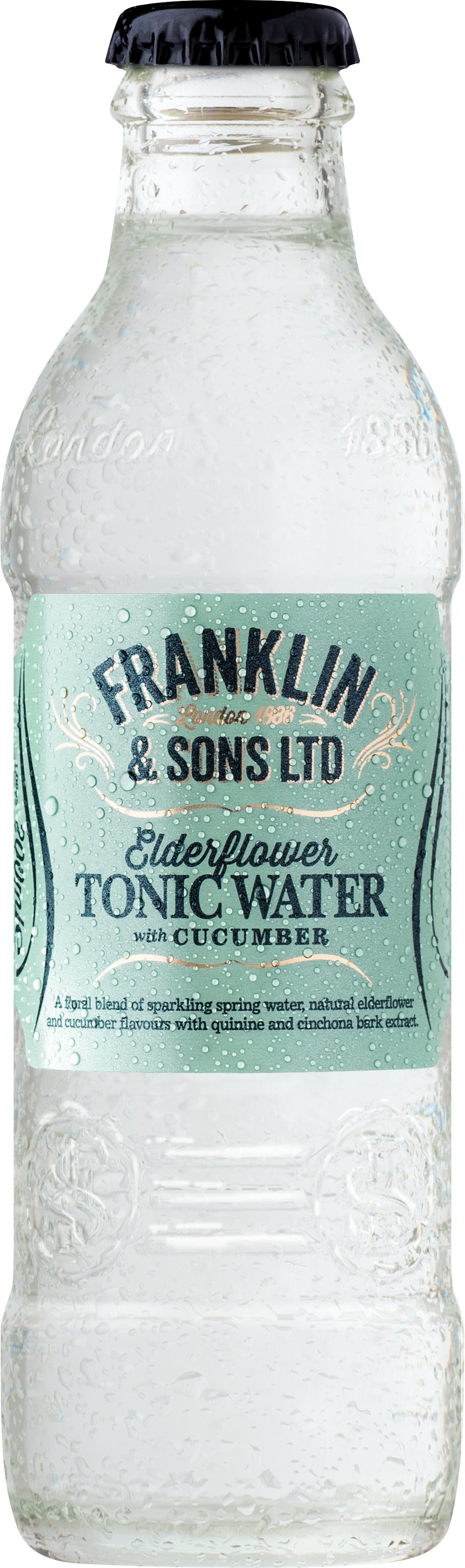 Frankling & Sons Elderflower Tonic water with Cucumber (24 x 200ml bottles)