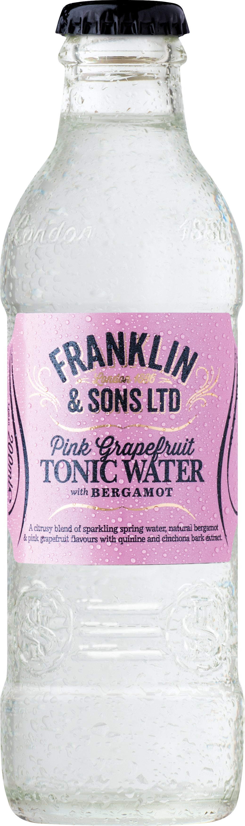Franklin & Sons Pink Grapefruit Tonic Water (24 x 200ml bottles)