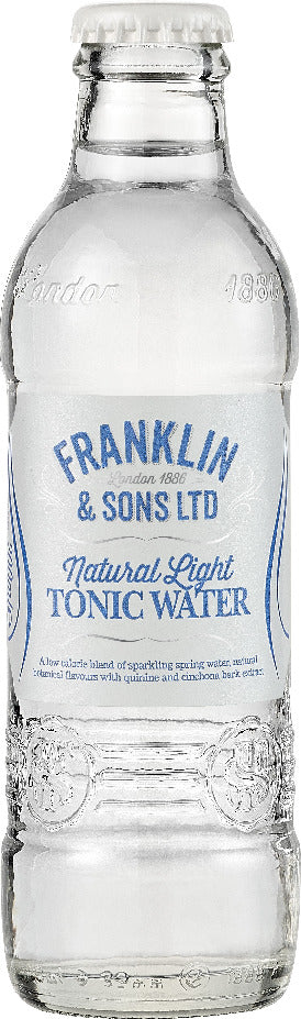 Franklin & Sons Natural Light Tonic Water (24 x 200ml bottles)