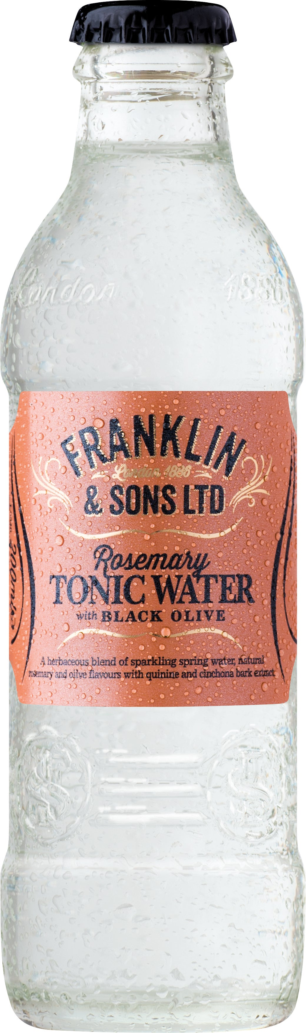 Franklin & Sons Rosemary Tonic Water with Black Olive (24 x 200ml bottles)