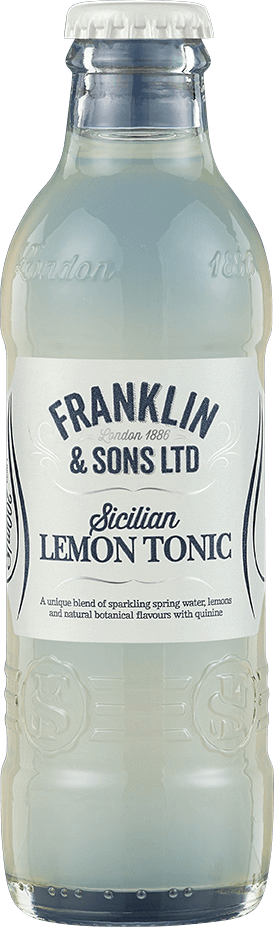 Franklin & Sons Sicilian Lemon Tonic (24 x 200ml bottles)
