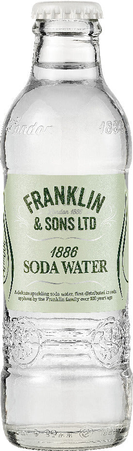 Franklin & Sons Soda Water (24 x 200ml bottles)