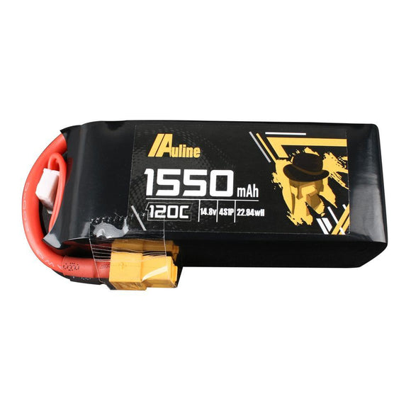 ⚡️Buy Auline 1550mAh 14.8v 4S 120C XT60 High Discharge LiPo - www.kingquad.shop