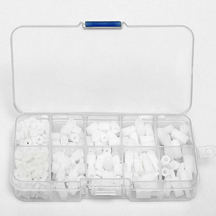 ⚡️Buy M3 Nylon Standoff & Hex Screw Nut Standoff Set In White (300 Pieces) - www.kingquad.shop