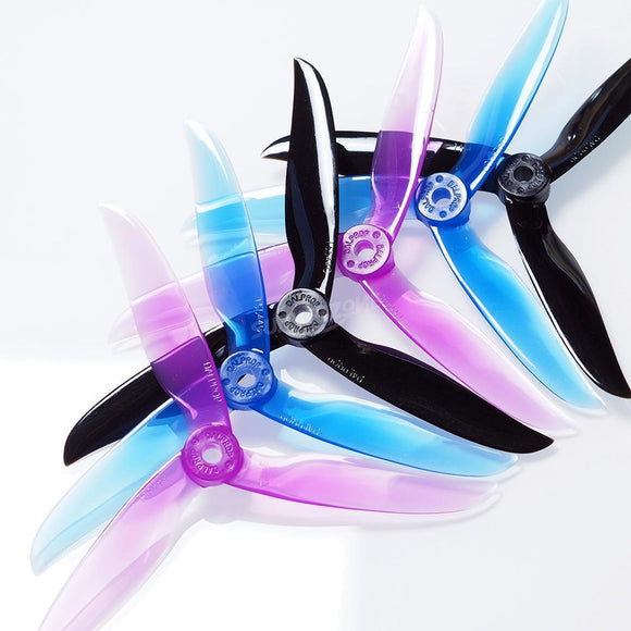 "⚡️Buy DAL T5544 5"" Freestyle/Long Range Tri Blade Propellers 4 Props (2CW 2CCW) - www.kingquad.shop"
