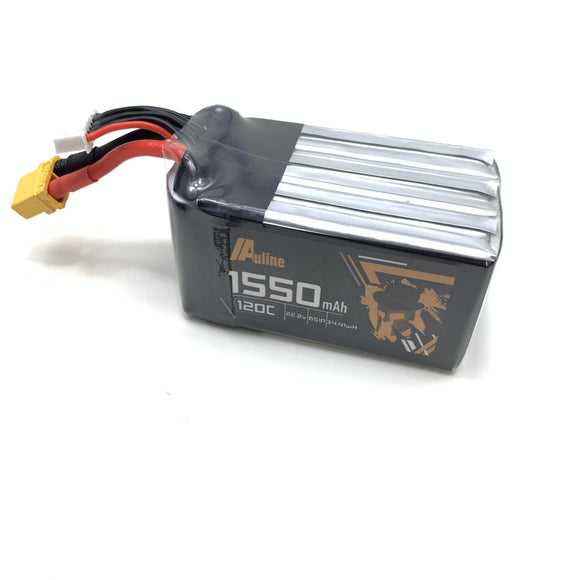 ⚡️Buy Auline 6S 1550mah 22.2v 120C XT60 for 5in FPV Racing and Freestyle - www.kingquad.shop