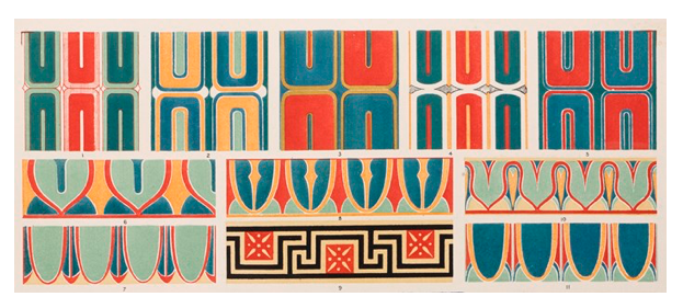 The Grammar of Ornament, Owen Jones. Greek Plate illustration, Greek No 8, Plate XXII. https://www.nms.ac.uk/explore-our-collections/stories/art-and-design/grammar-of-ornament/