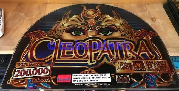 IGT I Game Cleopatra Round Top Glass