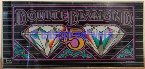 "IGT s-2000 Double Diamond  19"" Belly Glass $5.00"